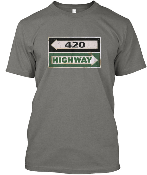 420 Shirt   Weed Tees   Marijuana Tshirt Grey T-Shirt Front