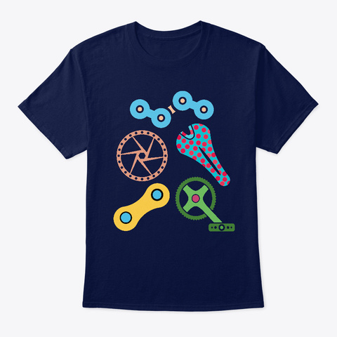 France Tournament Bike Cycling Shirt Navy T-Shirt Front