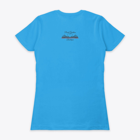 Respect The Headphones Turquoise T-Shirt Back