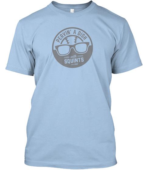 Pervin' A Dish Squints Athletic Blue T-Shirt Front