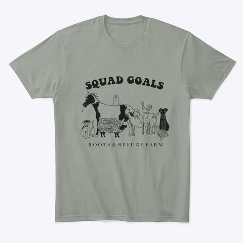 Squad Goals Grey T-Shirt Front