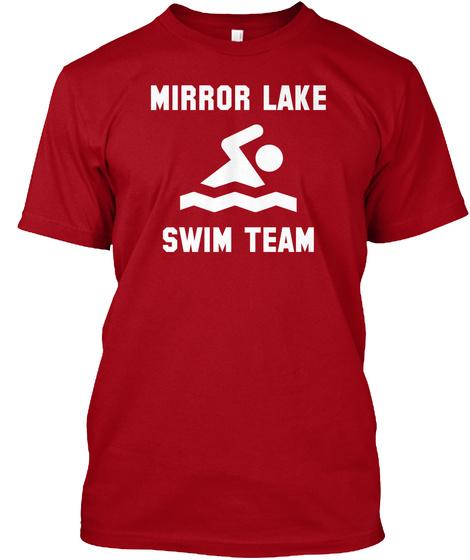 Mirror Lake Swim Team Deep Red T-Shirt Front