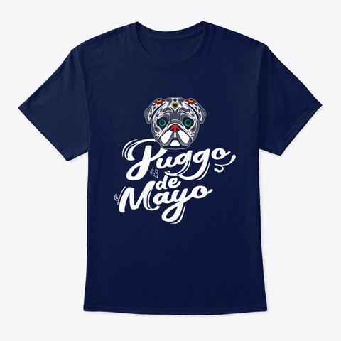 Dog Puggo De Mayo Navy T-Shirt Front