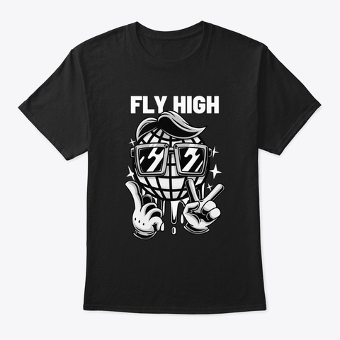 Fly High Black T-Shirt Front