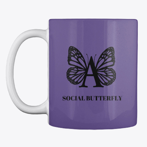 Social Butterfly – A  Purple T-Shirt Front
