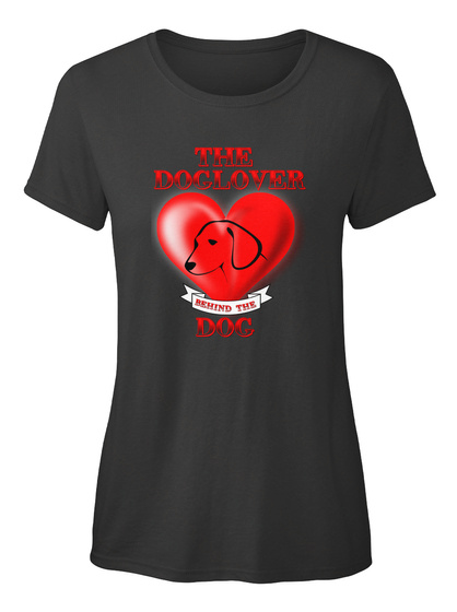 Doglover Behind The Dog Black Damen T-Shirt Front