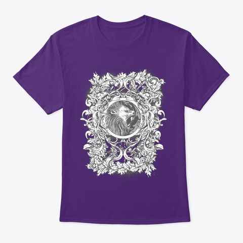 Classy Design Wolf Purple T-Shirt Front