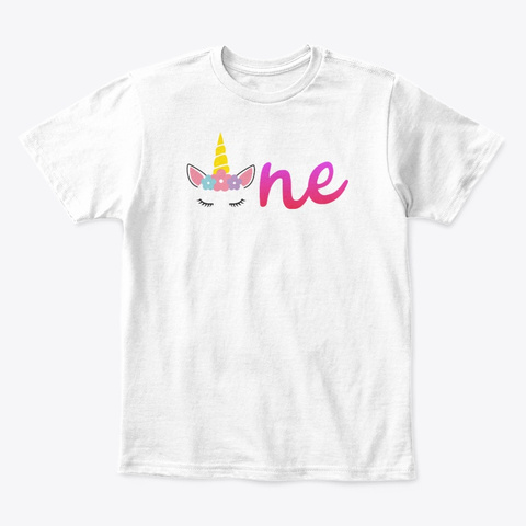 Cute Birthday Gifts For Unicorn Lover White T-Shirt Front