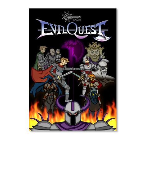 Evil Quest Sticker White T-Shirt Front