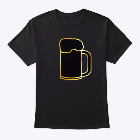 Beer Mug Black T-Shirt Front