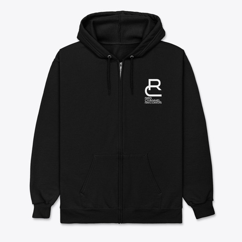 Rcr   Hoodie Pullover With Zip Black T-Shirt Front