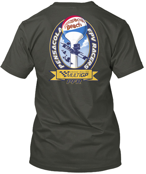 Pensacola Fpv Racers Smoke Gray T-Shirt Back