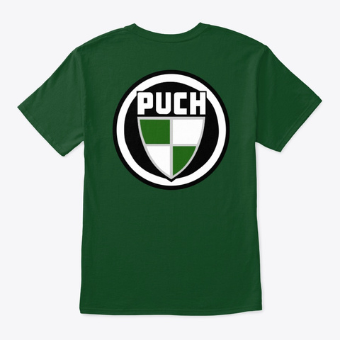 Bold Classic Puch Logo Front/Back Deep Forest T-Shirt Back