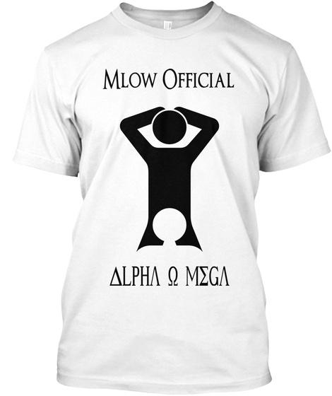 Mlow Official Alpha O Mega White T-Shirt Front