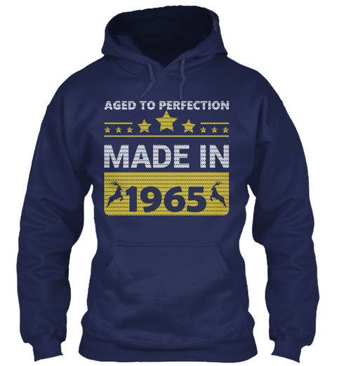 Aged To Perfection Made In 1965 Navy T-Shirt Front