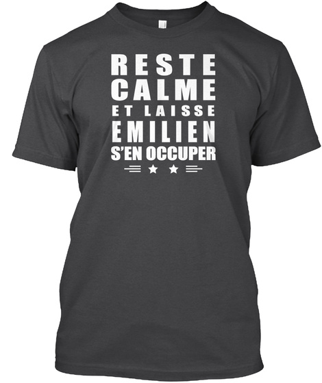 Reste Calme Et Laisse Emilien Dark Grey Heather T-Shirt Front