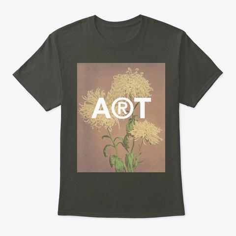 Chrysanthemum Vintage Flowers  Smoke Gray T-Shirt Front