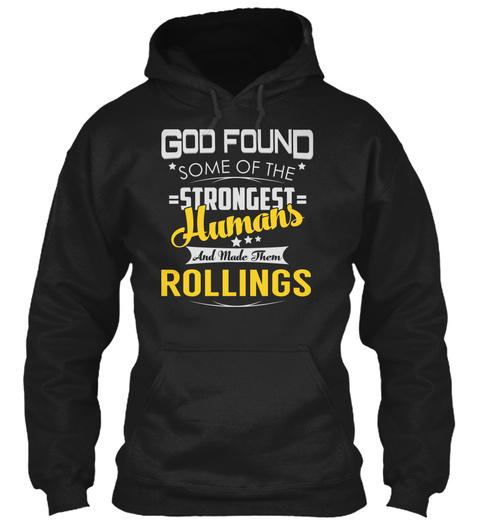 Rollings   Strongest Humans Black T-Shirt Front