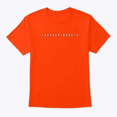 Be Who You Are Bright Tshirt Orange T-Shirt Front