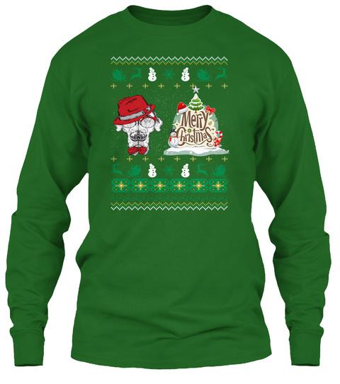 English Pointer Ugly Christmas Sweater Irish Green T-Shirt Front