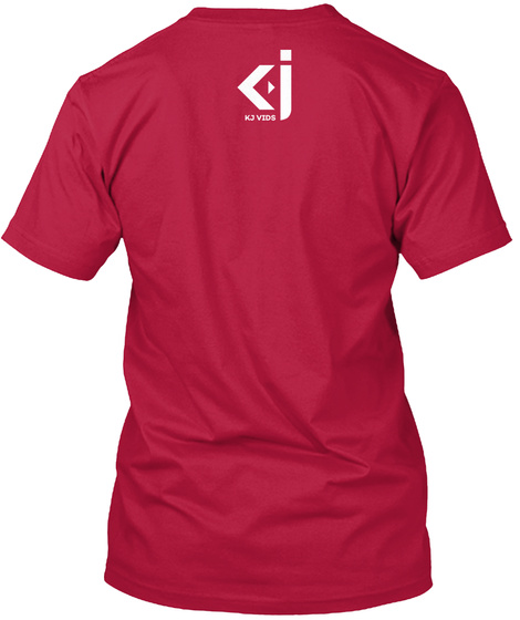 Kj Vids Quote Tee 9 Cherry Red T-Shirt Back
