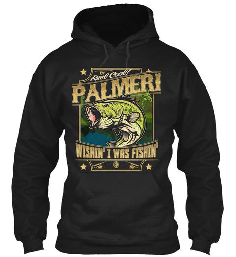 Palmeri Fishing Gift Black T-Shirt Front