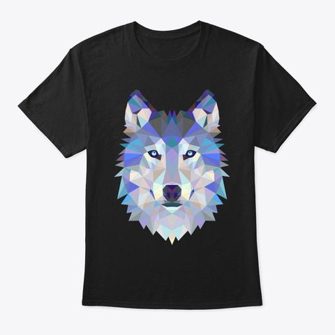 Wolf Triangle T Shirts!  Black T-Shirt Front
