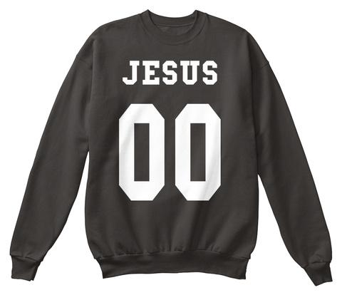 Jesus 00 Jet Black T-Shirt Front