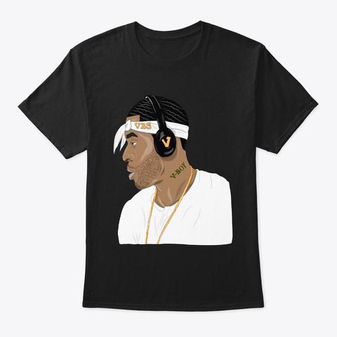 Vboy Swerv Portrait Collection Black T-Shirt Front