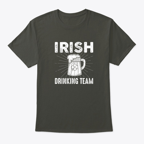 Irish Drinking Team  Smoke Gray T-Shirt Front