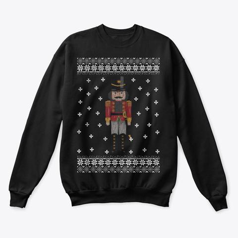 Ugly Christmas Apparel Nutcracker Black T-Shirt Front