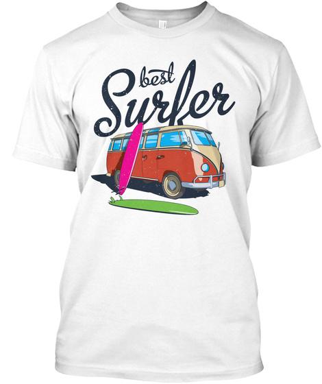 Best Surfer White T-Shirt Front