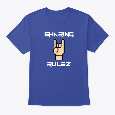 Sharing Rulez Deep Royal T-Shirt Front