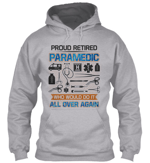 Retired Paramedic Sport Grey T-Shirt Front