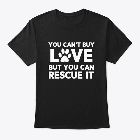 Dog Rescue For Women And Girls Black T-Shirt Front