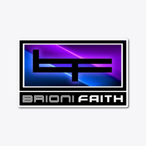 Bf Logo Sticker   Neon Standard T-Shirt Front