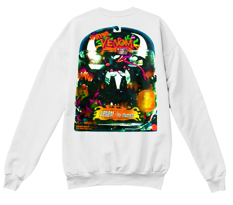 Poison House White  Sweatshirt Back