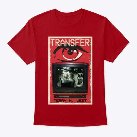 Transfer Book Cover Tee Deep Red T-Shirt Front