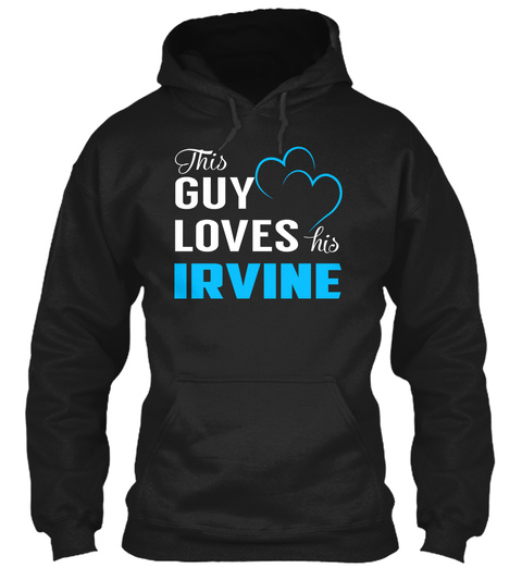 Guy Loves Irvine   Name Shirts Black T-Shirt Front