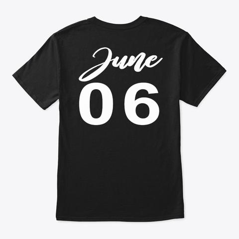 June 6   Gemini Black T-Shirt Back