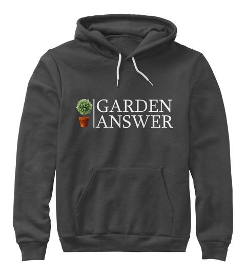 Garden Answer Dark Grey Heather T-Shirt Front