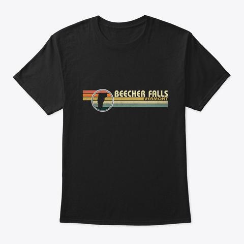 Vermont Beecher Falls Vintage Black T-Shirt Front