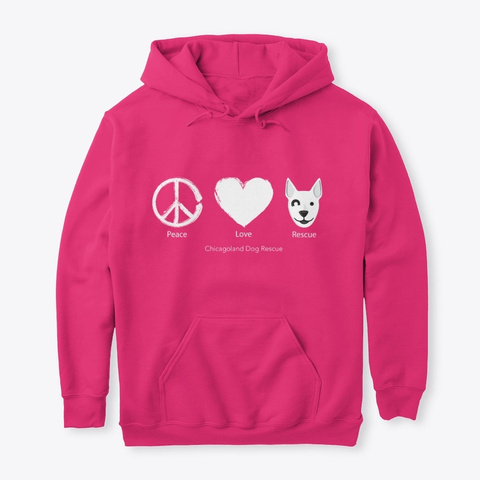 Peace, Love, And Rescue   White Heliconia T-Shirt Front