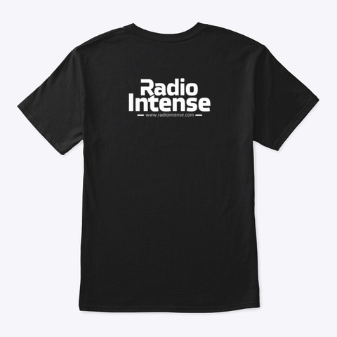 Radio Intense Black Black T-Shirt Back