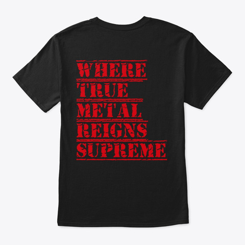 Tumgs True Elite Squad Black T-Shirt Back
