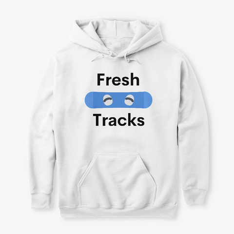 Fresh Tracks White T-Shirt Front