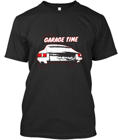 Garage Time Black T-Shirt Front