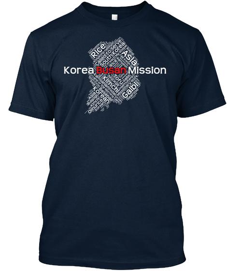 Korea Busan Mission Rice Called To Serve South Korea Asia Korean Kimchi Tofu Omurice  New Navy T-Shirt Front