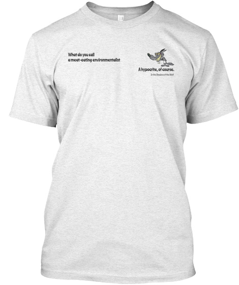 The Hypocrite  Heather White T-Shirt Front