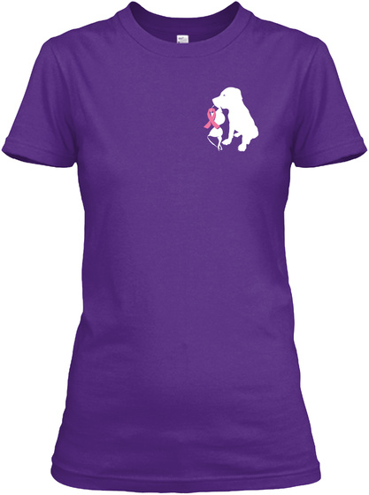 Save The Pits  Save The Tits Purple T-Shirt Front